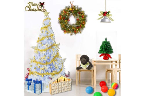 3. Sunnyglade White Artificial Christmas Tree