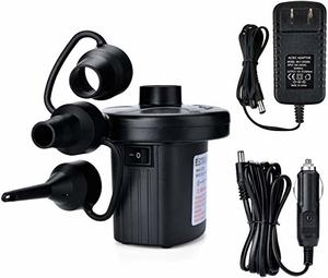 4. AGPtEK Portable Quick-Fill Air Pump with 3 Nozzles