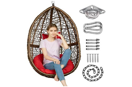 4. Greenstell Egg Hammock Chair with Hanging Kits