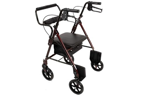 4. ProBasics Aluminum Rollator Walker with Seat