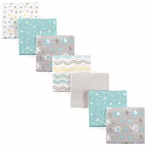 5. Luvable Friends Unisex Baby Flannel Receiving Blankets 7-Pack