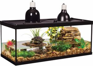 5. Tetra Aquarium Reptile Glass Kit with Two Dome Lamps