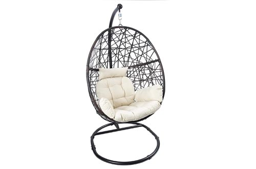 6. LUCKYBERRY Egg Chair Swing Chair