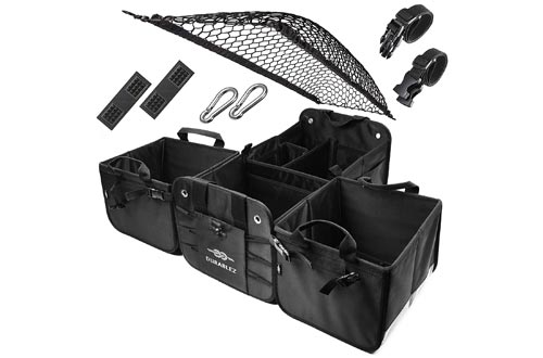 7. DURABLEZ Car Trunk Storage Organizer