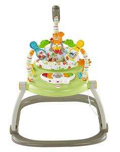 8. Fisher-Price Woodland Friends SpaceSaver Jumperoo