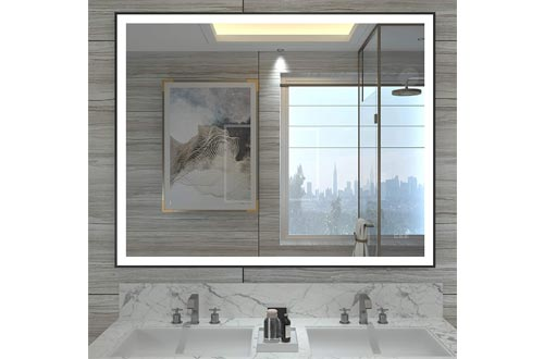 9. HAUSCHEN LED Lighted Wall Mounted Mirror