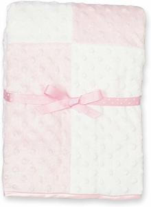 9. Spasilk Minky Raised Dot Baby Blanket
