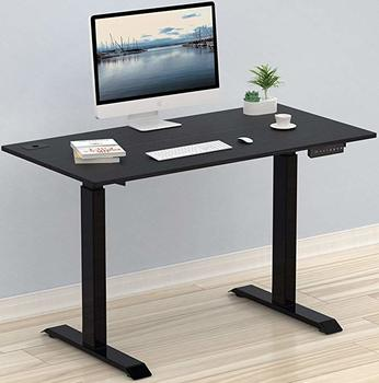 #6. SHW Electric Height Adjustable Black Computer Desk