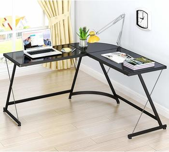 #7. SHW L-Shape Corner Computer Desk Gaming Desk Table