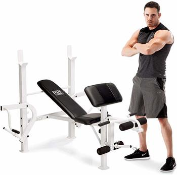 #8 Marcy Diamond Elite Multipurpose Home Gym Weight Bench
