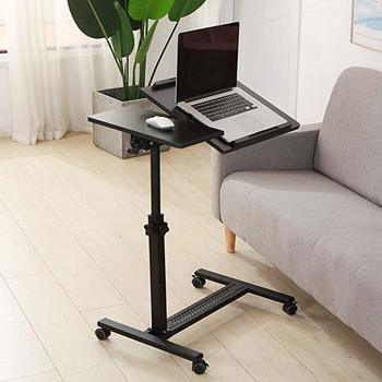 #8. Tilting Overbed Laptop Table with Casters