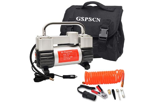 9. GSPSCN Air Compressors 150 PSI with Adapter for Cars