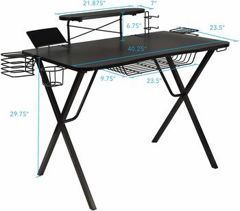 #9.Atlantic Original Gaming Pro Desk - Curved-Front