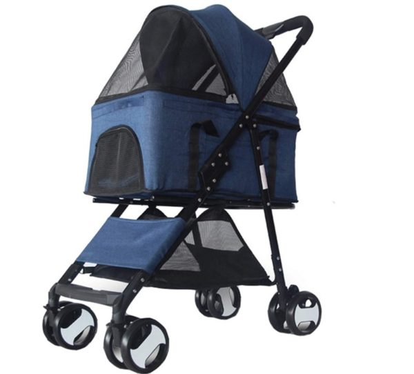 BNMY Folding Small Dog and Cat Stroller