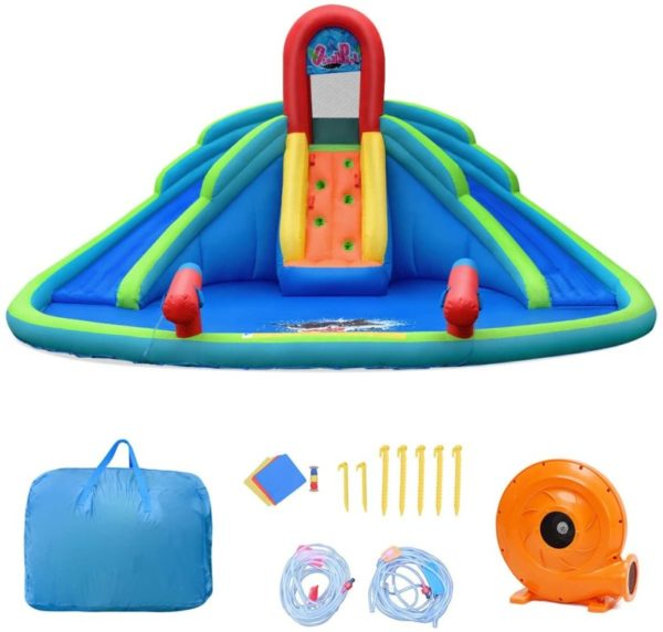 BOUNTECH Inflatable Hard Plastic Kiddie Pool Water Park