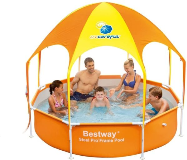 Bestway Orange Splash in Shade Hard Plastic Kiddie Pool