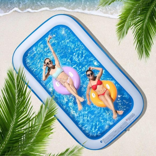 CHICLIST Inflatable Family Swimming Pool for Kids and Adults