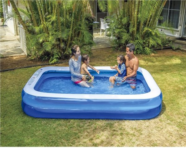 Jilong Giant Family Inflatable Hard Plastic Kiddie Pool