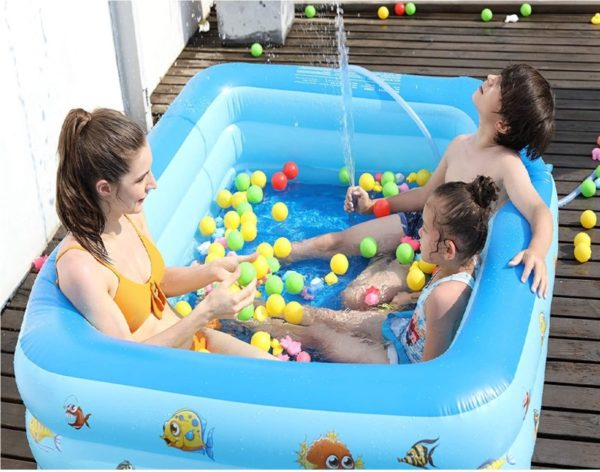 Lucakuins Family Inflatable Hard Plastic Kiddie Pool