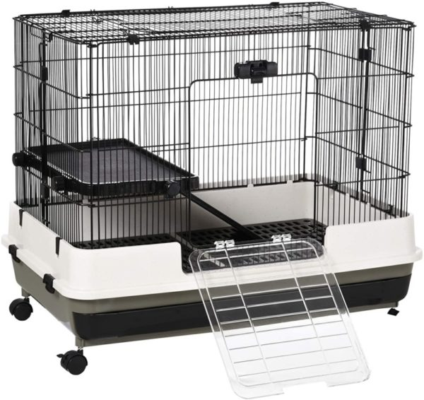 PawHut Rolling Small Rat Cage