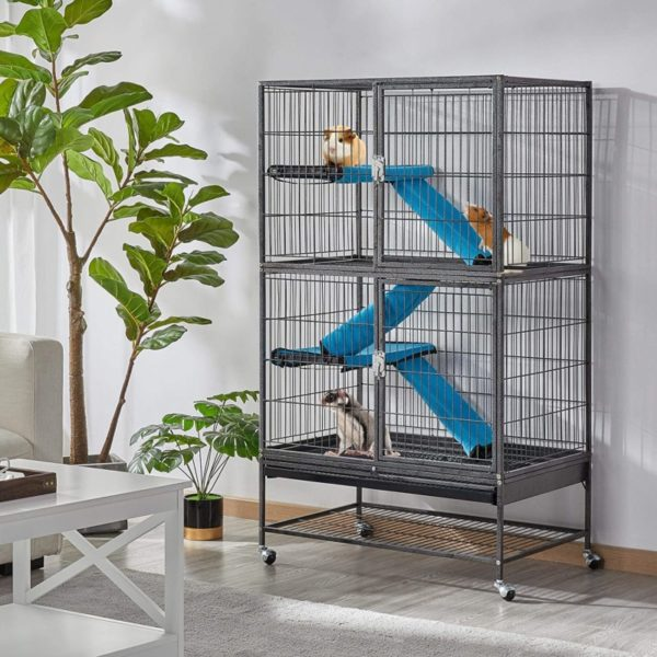 Topeakmart Removable Ramps Rat Cage