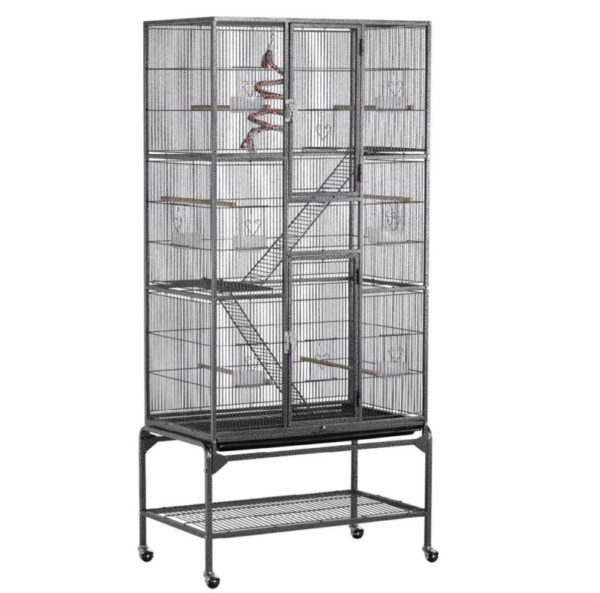 YAHEETECH Extra Large Rat Cage with Shelves and Ladders